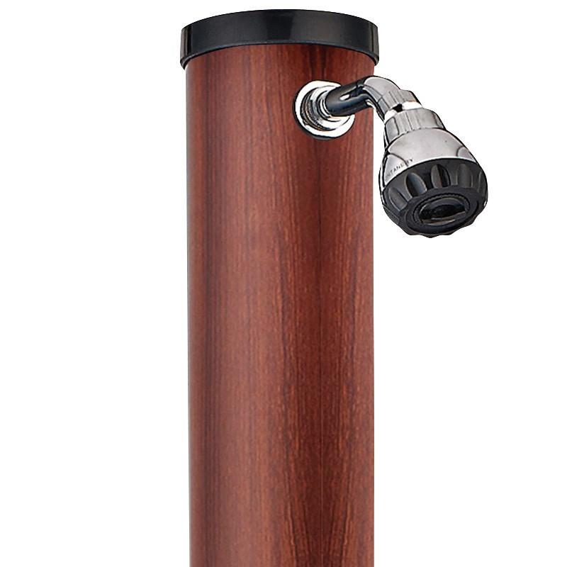 ducha solar gre litros pvc aspecto madera arw