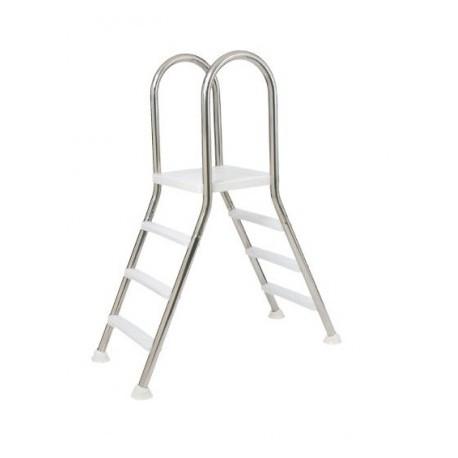 Escalera puente de acero inoxidable para piscinas elevadas