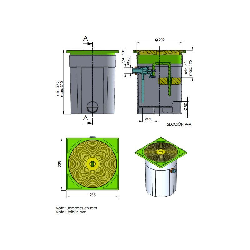 Regulador de nivel piscinas astralpool accesorios de for Regulador de nivel piscina
