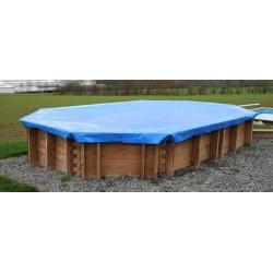 Cubierta invierno Gre Terra Pools ovalada 550 g/m²
