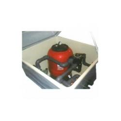 Caseta semienterrada con filtro + bomba